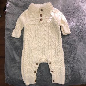 Baby Gap Mock-neck Cable-knit One-Piece